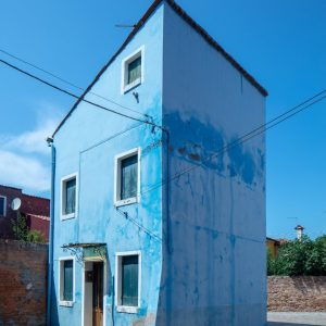 Blue House, Burano, Italy, July 14, 2018
