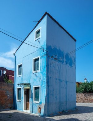 Blue House Burano Italy Venice Color Archival Pigment Print