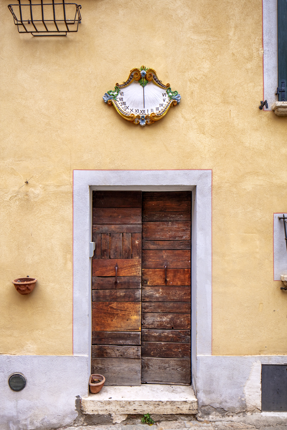 Color, Photograph, Tuscany, Door with Clock, Montepulciano, Italy, August 2, 2018
