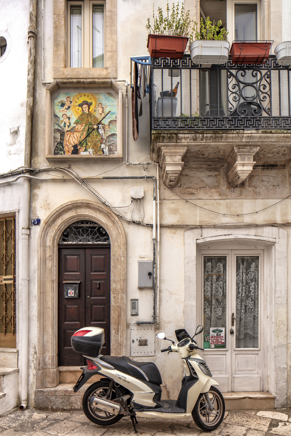 House with Scooter, Martina Franca, Italy, August 14, 2018