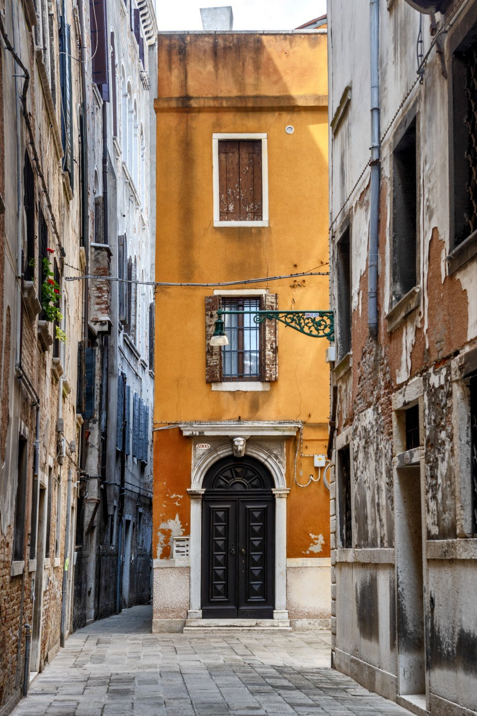 Door, Calle Pesaro, Venice, Italy, July 14, 2018