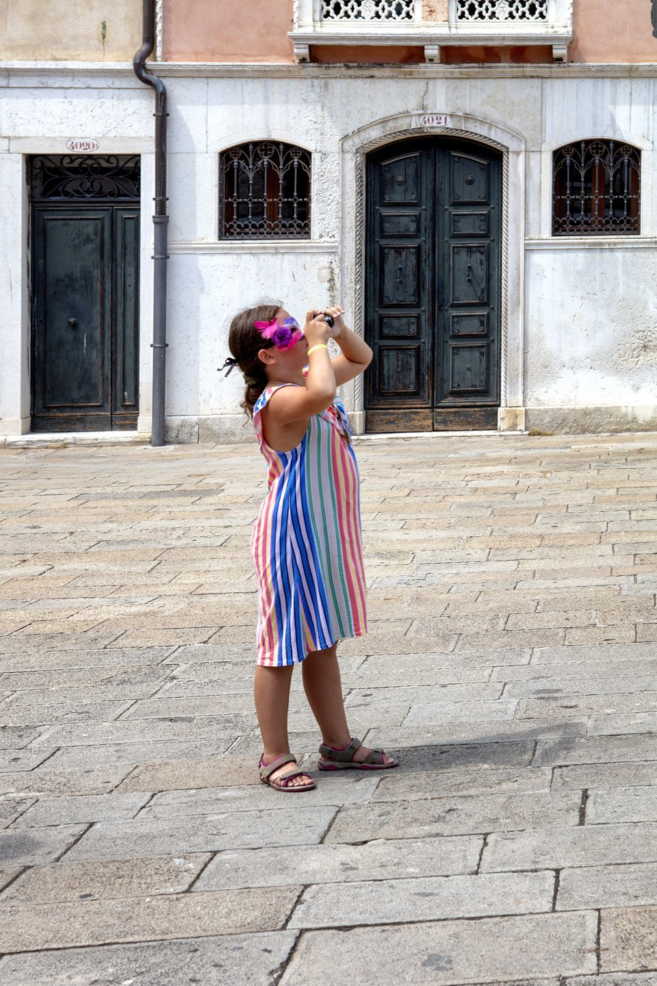 Child Taking Picture, Campo Manin, Venice, Italy, July 12, 2018