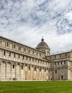 Color Print Photo Gothic Renaissance Architecture Church Cathedral Leaning Tower Pisa Piazza Miracoli