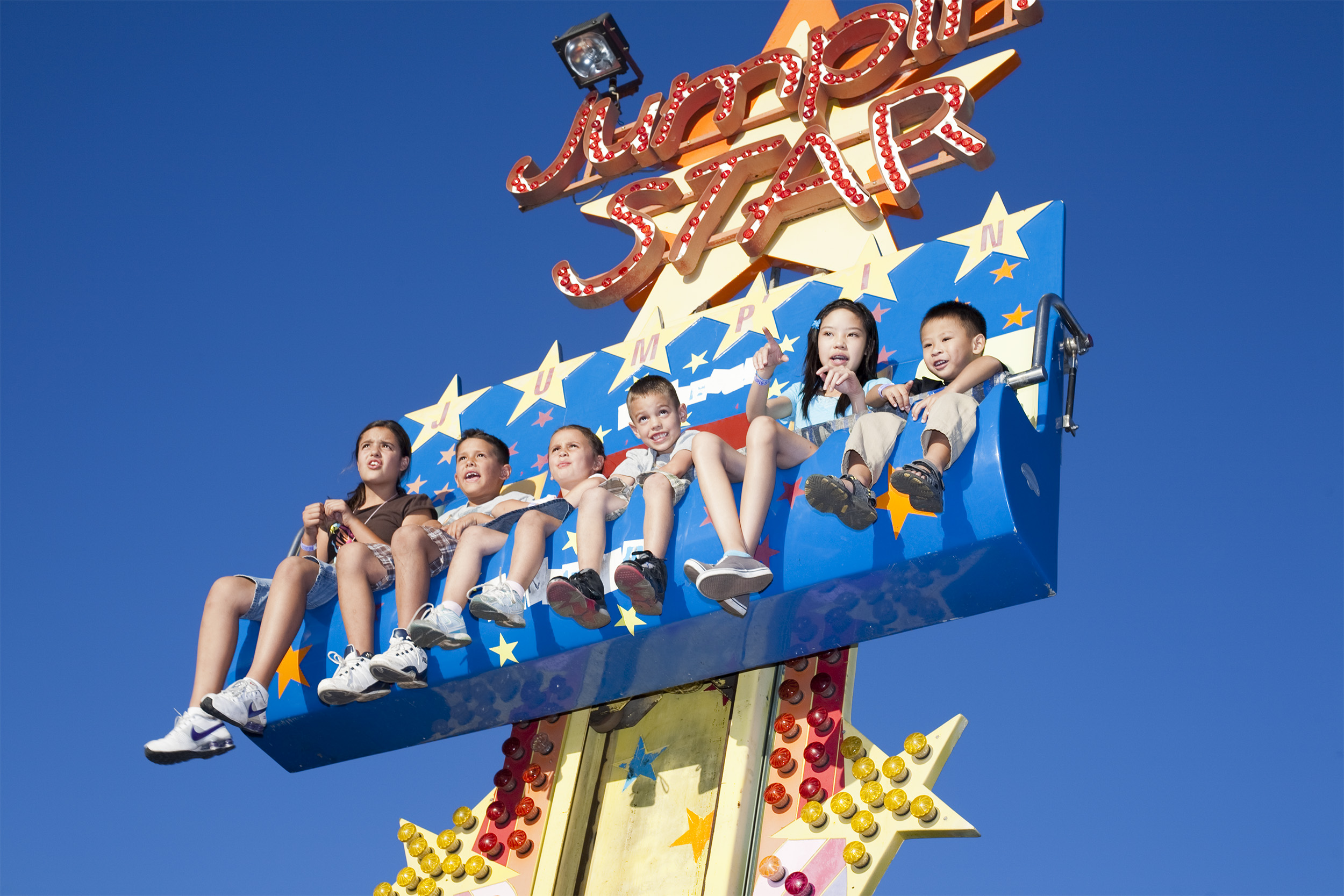Children on Ride, New Mexico Expo, July 12, 2010