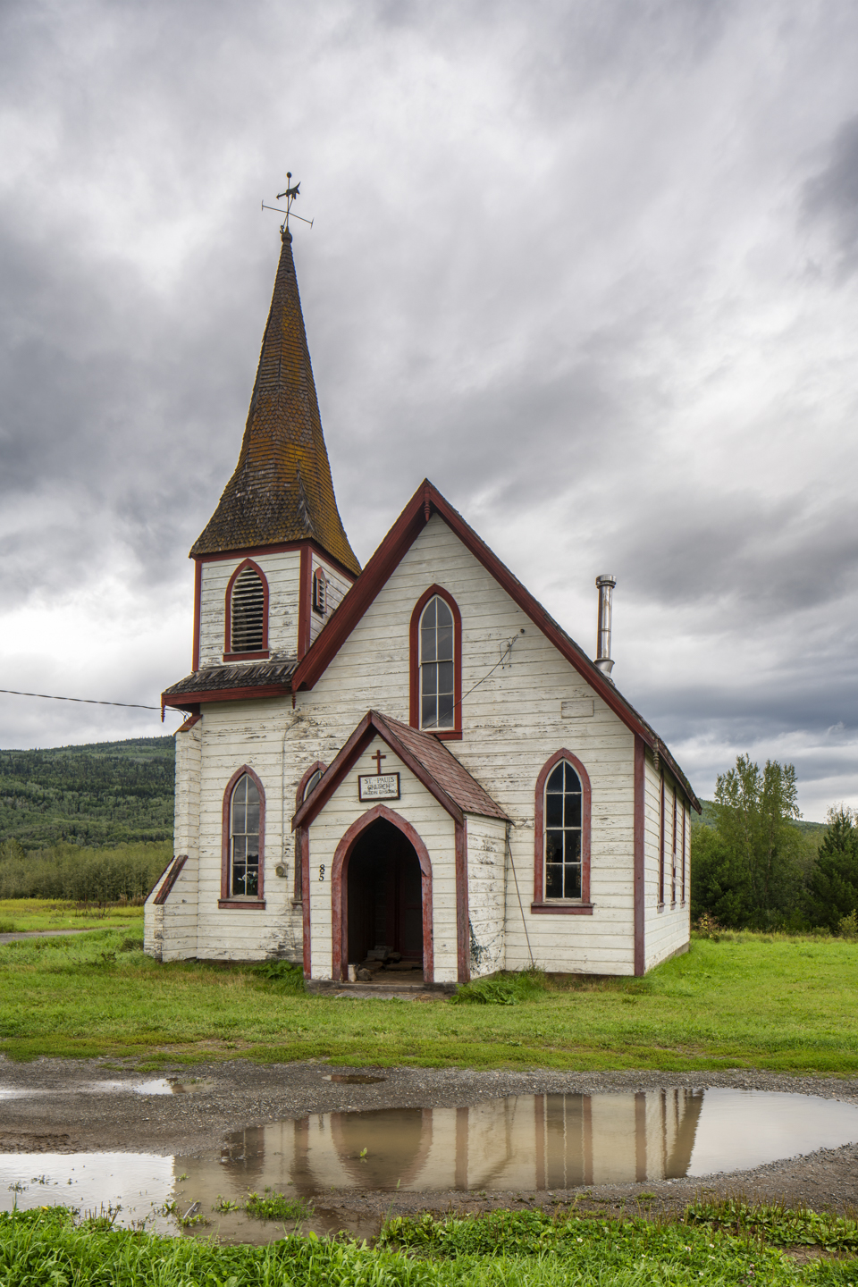 Color, Photograph, St. Paul's Church, Kitwanga, British Columbia, August 24, 2019