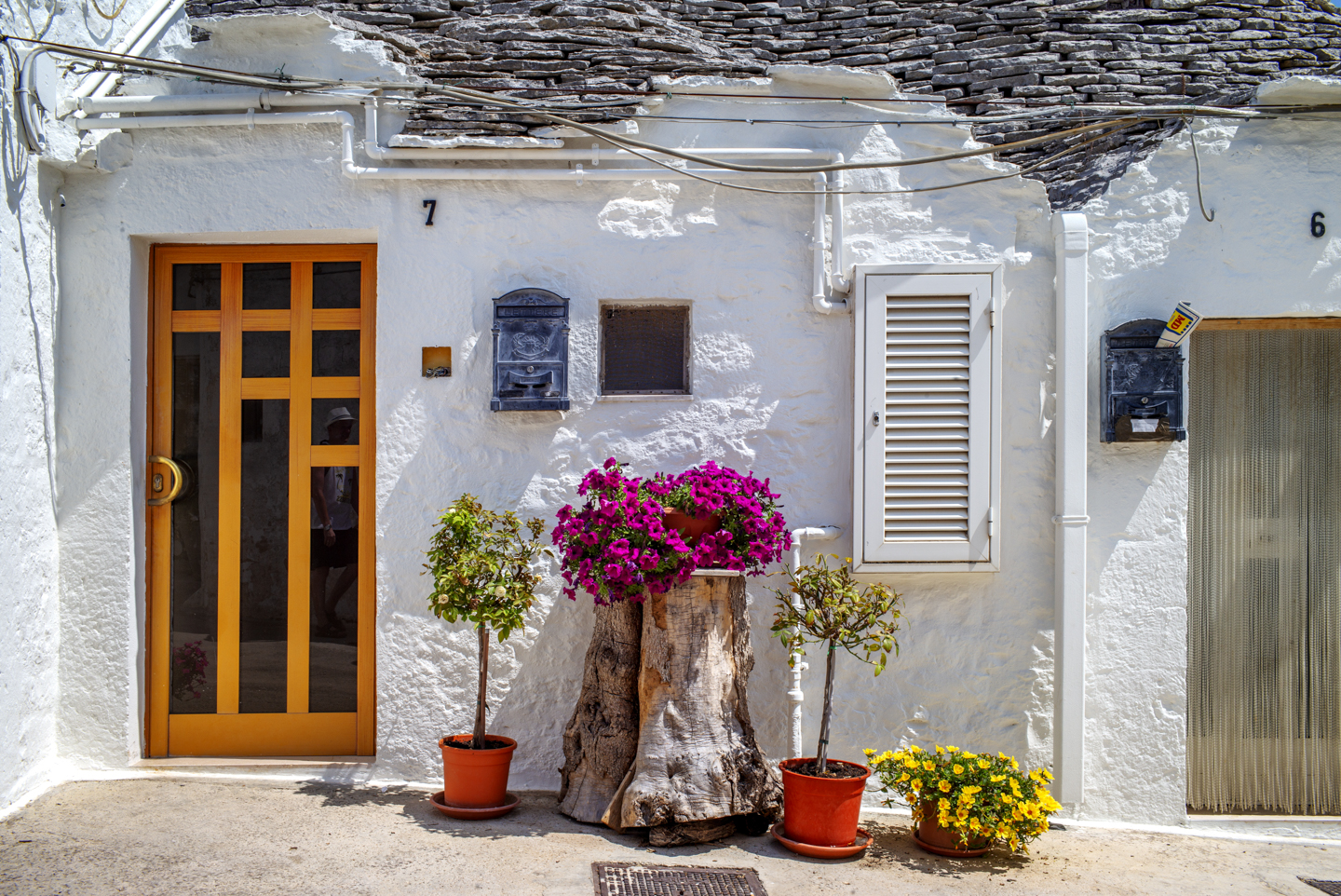 Trullo House Detail, Alberobello, Italy, August 13, 2018