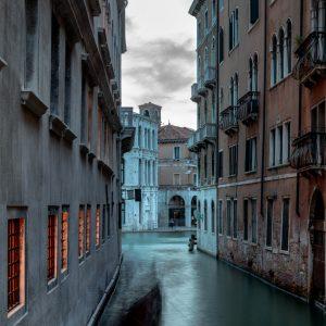 Gondola, Cannaregio Canal, Venice, Italy, July 12, 2018
