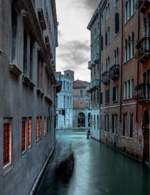 Gondola Canale Cannaregio Venice Italy Europe Color Archival Pigment Print Photograph Canal Architecture