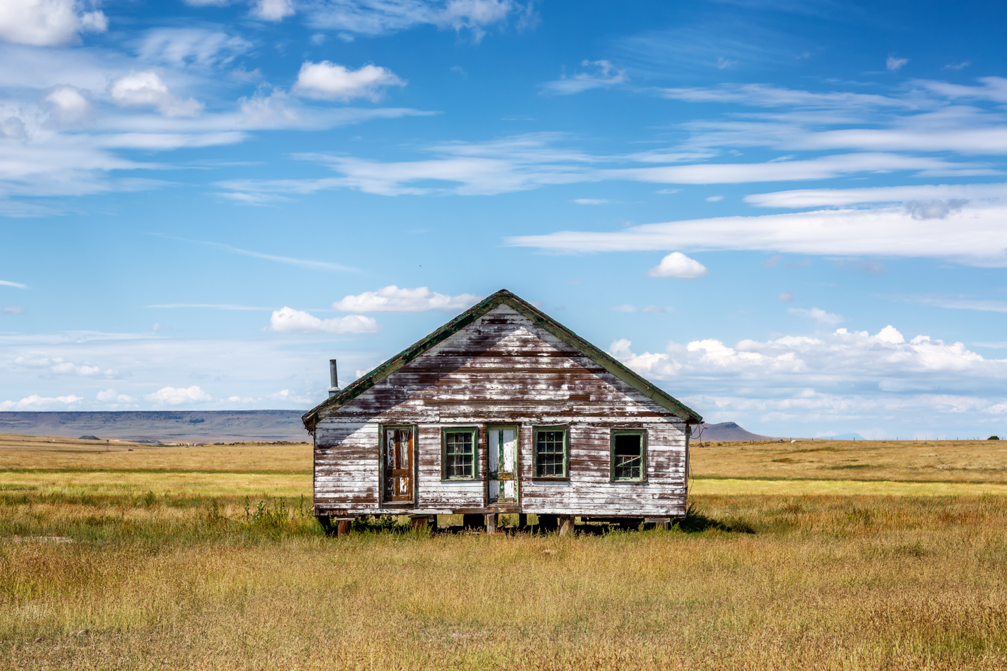 Color, Photograph, Southwest, Rural. Rustic, Abandoned House, Capulin Mountain, New Mexico, September 1, 2013
