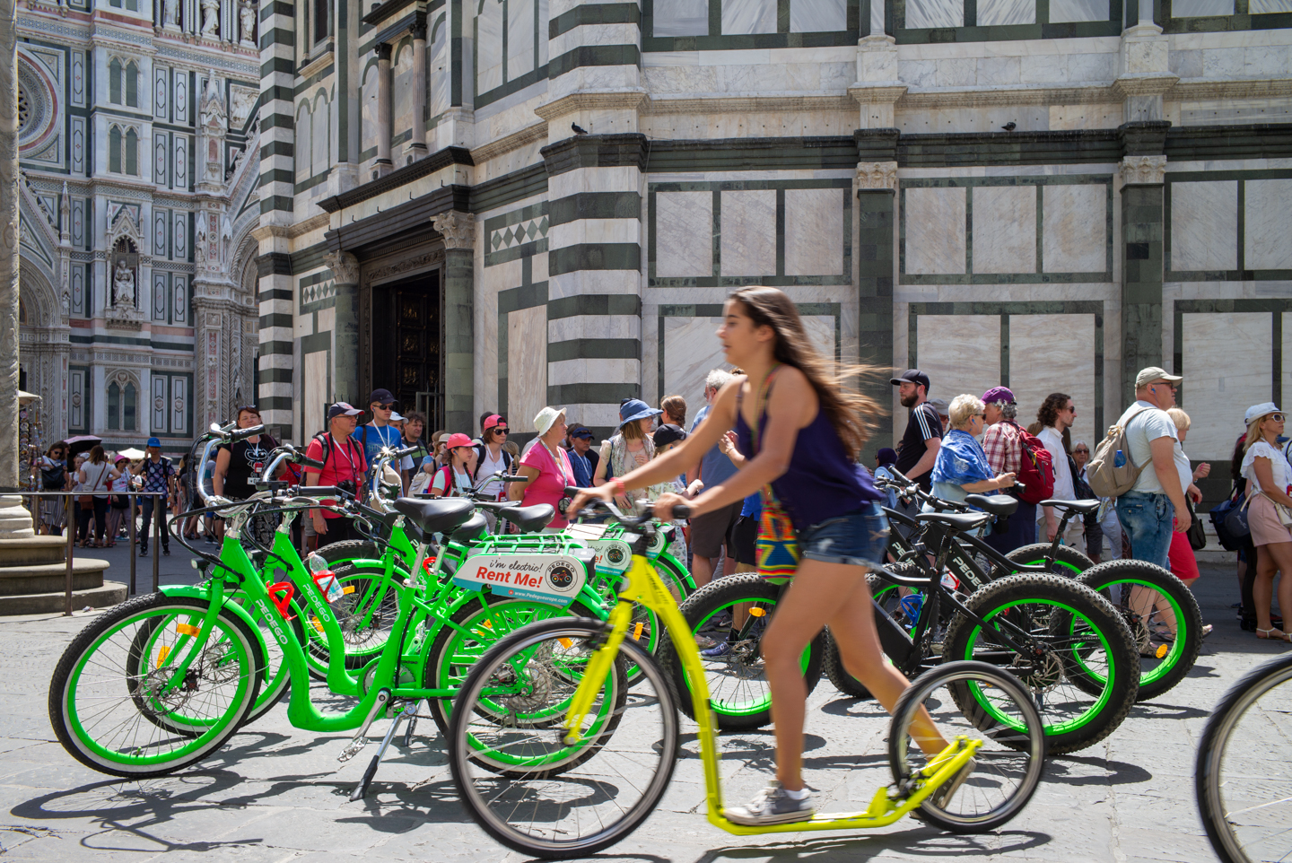 Rent Me, Florence, Italy, Duomo, Bicycle July 2, 2018