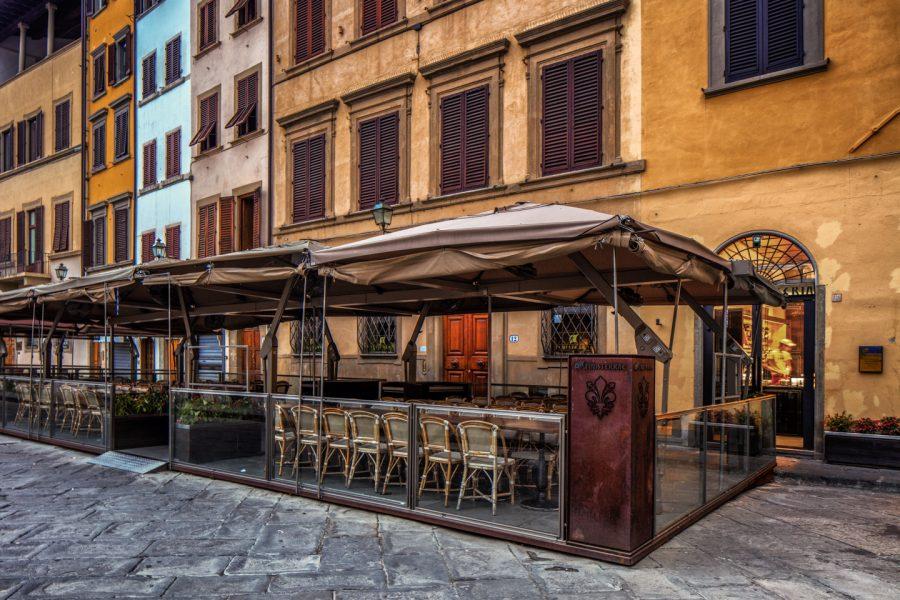 Color, Photograph, Florence, Italy, Tuscany, Piazza Santa di Croce, July 29, 2018