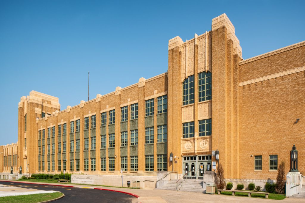 Will Rogers High School Tulsa Oklahoma WPA Works Progress Administration New Deal Roosevelt midwest PWA