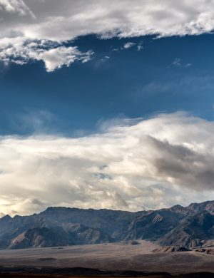 Death Valley California Desert Southwest Color Print Photograph Clouds Mountains Landscape