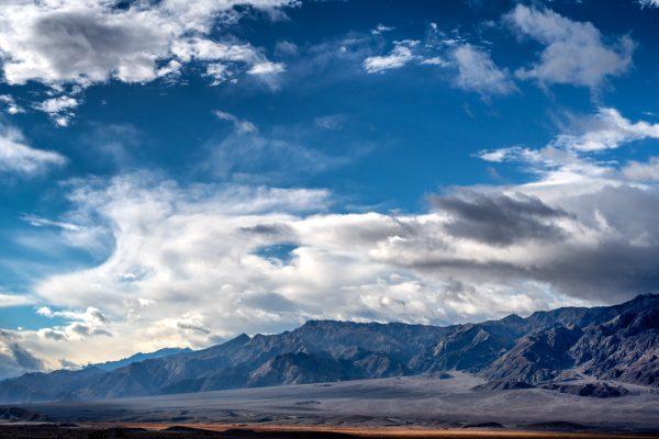 Death Valley California Desert Southwest Color Print Photograph Clouds Mountains Landscape