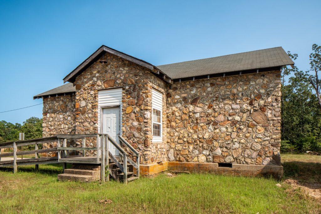 Garwood Schoolhouse Garwood Missouri midwest PWA WPA rustic Stonework Architecture