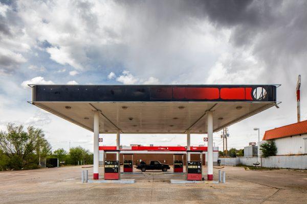 Gas Station Santa Rosa New Mexico Color Archival Pigment Print Cars Nostalgia Route 66 American Southwest Culture
