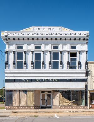 Independent Order Odd Fellows Building Charleston Missouri IOOF Color Archival Pigment Print Midwest architecture