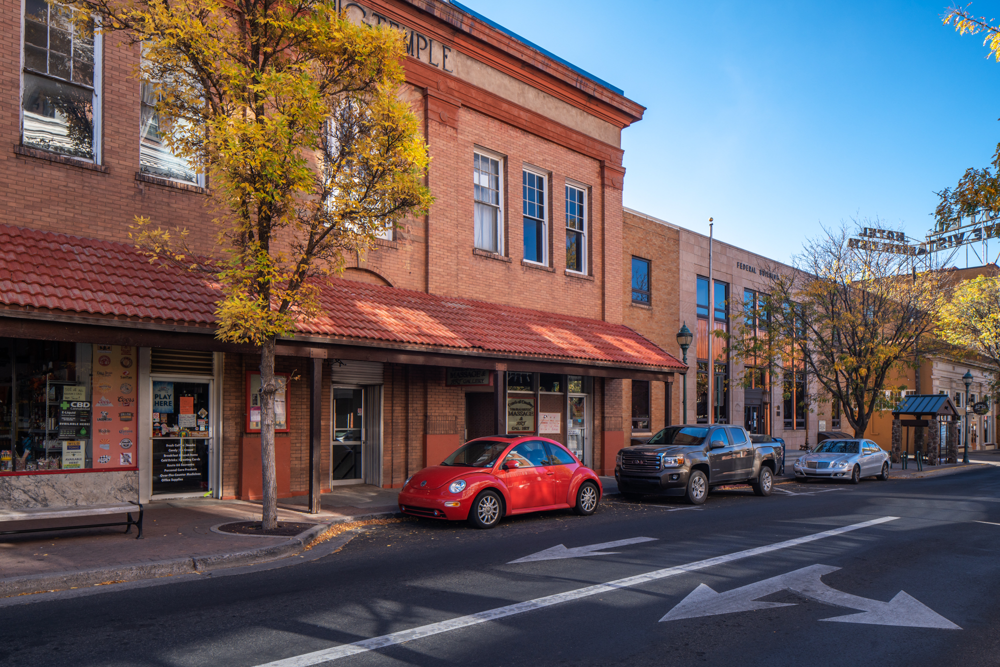 North San Francisco Avenue, Flagstaff, Arizona, October 15, 2020