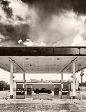 Gas Station Santa Rosa New Mexico 2016 palladium platinum print alternative historic process Southwest American Route 66 Photograph Rustic Americana