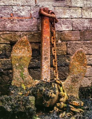 Ship Anchor Wales Color Archival Pigment Print United Kingdom Rust Ship Shipping