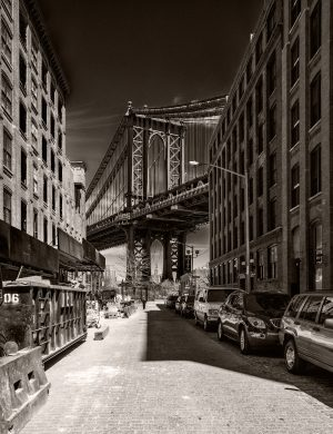 Brooklyn Bridge Palladium Print platinum alternative historic process New York Americana Architecture John Augustus Roebling