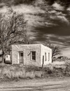White House Cedarvale New Mexico Palladium Print palladium platinum print alternative historic process American southwest rustic rural abandoned