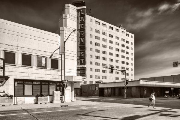 Lacey Street Fairbanks Alaska palladium platinum print alternative historic process Pacific Northwest Art Deco Theatre architecture