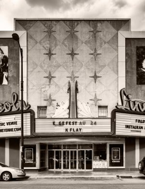 Lincoln Theatre Cheyenne Wyoming palladium platinum print alternative historic process Movie nostalgia west frontier
