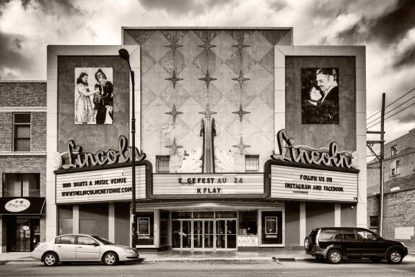 Lincoln Theatre Cheyenne Wyoming palladium platinum print alternative historic process Movie nostalgia west frontier