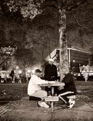 Chess Players Dupont Circle Palladium Print alternative historic process Washington DC Urban Game Public Place
