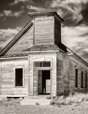 First Presbyterian Church Taiban New Mexico palladium platinum print alternative historic process Southwest Rural Sepia Photograph Americana