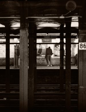 Subway Scene New York City urban transportation transit photograph palladium platinum print alternative historic process
