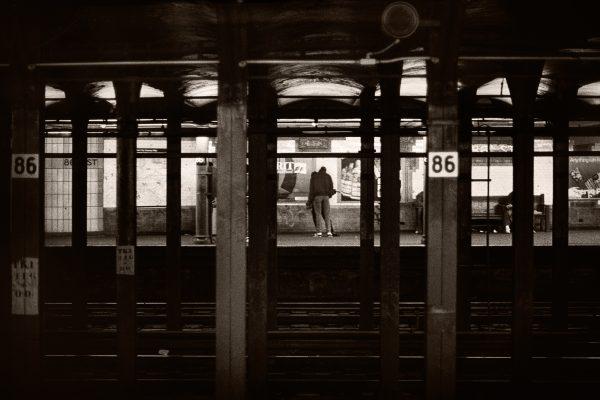 Subway Scene New York City urban transportation transit photograph palladium platinum print alternative historic process