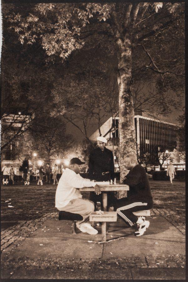 Chess Players Dupont Circle Palladium Print alternative historic process Washington DC Urban Game Public Place